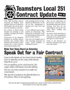 contract bulletin -- jan 15